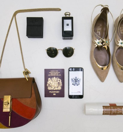 EDITORIAL USE ONLY Poppy Delevingne presents her top tips for festival packing at Heathrow Terminal 5 in London, as British Airways prepare for festival season, which kicks off this weekend with Coachella in California, USA. PRESS ASSOCIATION Photo. Issue date: Wednesday April 13, 2016. Top items chosen by Poppy Delevingne for festival-goers include a Chloe bag from Matches Fashion, Ray-Ban sunglasses, Sisley soin solaire tinted sun cream, sandals by Aquazzura, and Jo Malone cologne. Photo credit should read: John Phillips/PA Wire